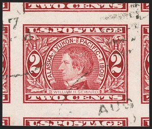 Sale Number 1174, Lot Number 162, 1908-12 Washington-Franklin Issues (Scott 331-396)2c Alaska-Yukon, Imperforate (371), 2c Alaska-Yukon, Imperforate (371)