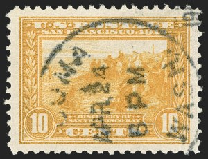 Sale Number 1174, Lot Number 174, 1913-15 Panama-Pacific Issue (Scott 397-404)10c Orange Yellow, Panama-Pacific (400), 10c Orange Yellow, Panama-Pacific (400)