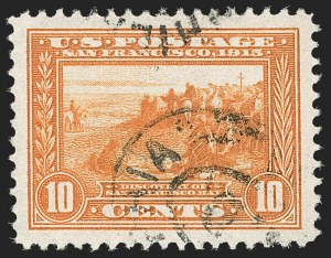 Sale Number 1174, Lot Number 175, 1913-15 Panama-Pacific Issue (Scott 397-404)10c Orange, Panama-Pacific (400A), 10c Orange, Panama-Pacific (400A)