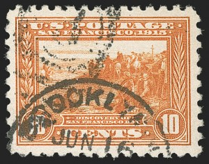 Sale Number 1174, Lot Number 177, 1913-15 Panama-Pacific Issue (Scott 397-404)10c Panama-Pacific, Perf 10 (404), 10c Panama-Pacific, Perf 10 (404)