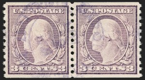 Sale Number 1174, Lot Number 209, 1916-19 Issues (Scott 462-497)3c Violet, Ty. I, Coil (493), 3c Violet, Ty. I, Coil (493)
