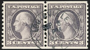 Sale Number 1174, Lot Number 210, 1916-19 Issues (Scott 462-497)3c Violet, Ty. II, Coil (494), 3c Violet, Ty. II, Coil (494)