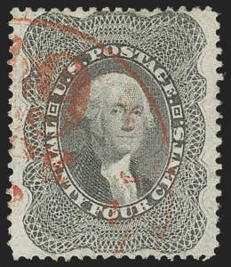 Sale Number 1174, Lot Number 31, 1857-60 Issue (Scott 18-39)24c Gray Lilac (37), 24c Gray Lilac (37)