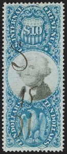 Sale Number 1174, Lot Number 359, Revenues, Second and Third Issues$10.00 Blue & Black, Second Issue (R128), $10.00 Blue & Black, Second Issue (R128)