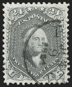 Sale Number 1174, Lot Number 39, 1861-68 Issues (Scott 63-97)24c Grayish Lilac (78a), 24c Grayish Lilac (78a)