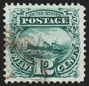 Sale Number 1174, Lot Number 49, 1869 Pictorial Issue and Re-Issue (Scott 112-123)12c Green (117), 12c Green (117)