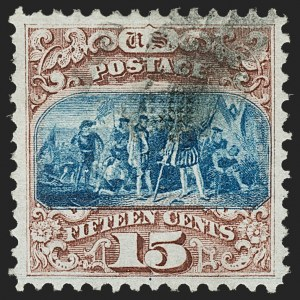 Sale Number 1174, Lot Number 50, 1869 Pictorial Issue and Re-Issue (Scott 112-123)15c Brown & Blue, Ty. I (118), 15c Brown & Blue, Ty. I (118)