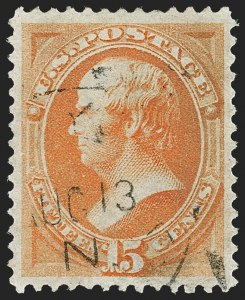 Sale Number 1174, Lot Number 59, 1870-88 Bank Note Issues (Scott 134-218)15c Yellow Orange (163), 15c Yellow Orange (163)
