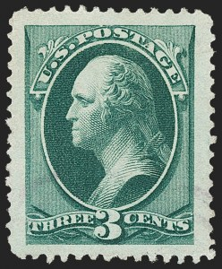 Sale Number 1174, Lot Number 61, 1870-88 Bank Note Issues (Scott 134-218)3c Green (184), 3c Green (184)