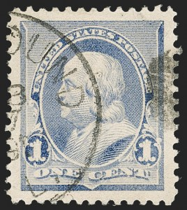 Sale Number 1174, Lot Number 70, 1890-93 Issue (Scott 219-229)1c Dull Blue (219), 1c Dull Blue (219)