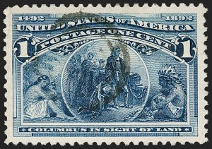 Sale Number 1174, Lot Number 74, 1c-50c 1893 Columbian Issue (Scott 230-240)1c Columbian (230), 1c Columbian (230)