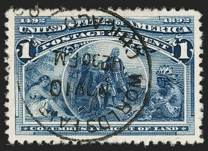 Sale Number 1174, Lot Number 75, 1c-50c 1893 Columbian Issue (Scott 230-240)1c Columbian (230), 1c Columbian (230)