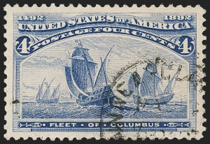 Sale Number 1174, Lot Number 78, 1c-50c 1893 Columbian Issue (Scott 230-240)4c Columbian (233), 4c Columbian (233)