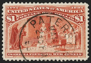 Sale Number 1174, Lot Number 88, $1.00-$5.00 1893 Columbian Issue (Scott 241-245)$1.00 Columbian (241), $1.00 Columbian (241)