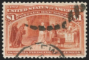 Sale Number 1174, Lot Number 90, $1.00-$5.00 1893 Columbian Issue (Scott 241-245)$1.00 Columbian (241), $1.00 Columbian (241)