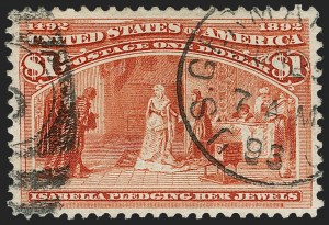 Sale Number 1174, Lot Number 92, $1.00-$5.00 1893 Columbian Issue (Scott 241-245)$1.00 Columbian (241), $1.00 Columbian (241)