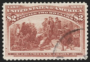 Sale Number 1174, Lot Number 94, $1.00-$5.00 1893 Columbian Issue (Scott 241-245)$2.00 Columbian (242), $2.00 Columbian (242)