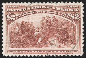Sale Number 1174, Lot Number 95, $1.00-$5.00 1893 Columbian Issue (Scott 241-245)$2.00 Columbian (242), $2.00 Columbian (242)