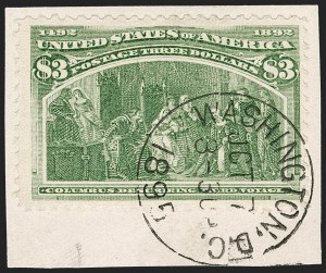 Sale Number 1174, Lot Number 99, $1.00-$5.00 1893 Columbian Issue (Scott 241-245)$3.00 Columbian (243), $3.00 Columbian (243)