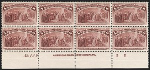 Sale Number 1175, Lot Number 534, 1893 Columbian Issue (Scott 230-245)8c Columbian (236), 8c Columbian (236)