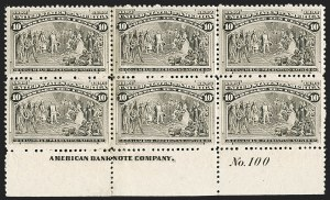 Sale Number 1175, Lot Number 535, 1893 Columbian Issue (Scott 230-245)10c Columbian (237), 10c Columbian (237)