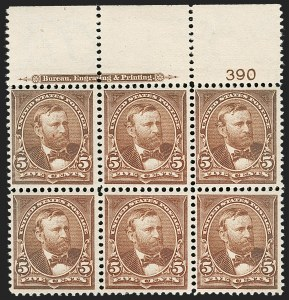 Sale Number 1175, Lot Number 560, 1895-98 Watermarked Bureau Issues (Scott 264-284)5c Chocolate (270), 5c Chocolate (270)