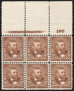 Sale Number 1175, Lot Number 561, 1895-98 Watermarked Bureau Issues (Scott 264-284)5c Chocolate (270), 5c Chocolate (270)