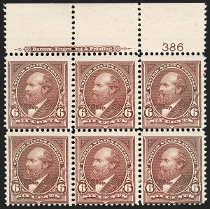 Sale Number 1175, Lot Number 562, 1895-98 Watermarked Bureau Issues (Scott 264-284)6c Dull Brown (271), 6c Dull Brown (271)
