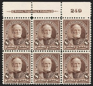 Sale Number 1175, Lot Number 563, 1895-98 Watermarked Bureau Issues (Scott 264-284)8c Violet Brown (272), 8c Violet Brown (272)