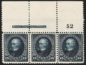 Sale Number 1175, Lot Number 565, 1895-98 Watermarked Bureau Issues (Scott 264-284)15c Dark Blue (274), 15c Dark Blue (274)
