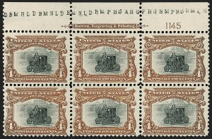 Sale Number 1175, Lot Number 587, 1901 Pan-American Issue (Scott 294-299)4c Pan-American (296), 4c Pan-American (296)