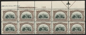 Sale Number 1175, Lot Number 589, 1901 Pan-American Issue (Scott 294-299)8c Pan-American (298), 8c Pan-American (298)