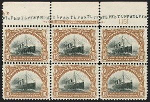 Sale Number 1175, Lot Number 590, 1901 Pan-American Issue (Scott 294-299)10c Pan-American (299), 10c Pan-American (299)