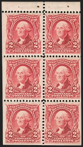 Sale Number 1175, Lot Number 591, 1902-08 Issues (Scott 300-320)1902-08 Issues, Booklet Panes (300b, 301c, 319Fq), 1902-08 Issues, Booklet Panes (300b, 301c, 319Fq)