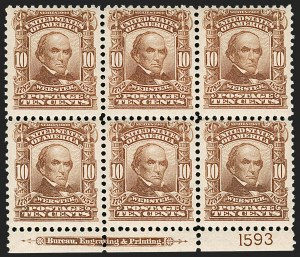 Sale Number 1175, Lot Number 596, 1902-08 Issues (Scott 300-320)10c Pale Red Brown (307), 10c Pale Red Brown (307)
