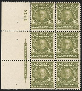 Sale Number 1175, Lot Number 598, 1902-08 Issues (Scott 300-320)15c Olive Green (309), 15c Olive Green (309)