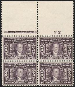 Sale Number 1175, Lot Number 607, 1904 Louisiana Purchase, 1907 Jamestown Issues (Scott 323-330)3c Louisiana Purchase (325), 3c Louisiana Purchase (325)