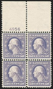 Sale Number 1175, Lot Number 620, 1908-10 Washington-Franklin Issues (Scott 331-366)50c Violet (341), 50c Violet (341)