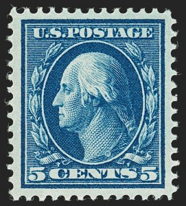 Sale Number 1175, Lot Number 636, 1910-13 Washington-Franklin Issue (Scott 374-396)5c Blue (378), 5c Blue (378)