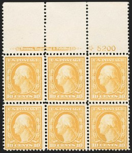 Sale Number 1175, Lot Number 639, 1910-13 Washington-Franklin Issue (Scott 374-396)10c Yellow (381), 10c Yellow (381)