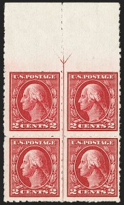 "Sale Number 1175, Lot Number 661, 1912-14 Washington-Franklin Issue (Scott 405-423)1c Green, 2c Carmine, Imperforate, ""Kansas City"" Roulettes (408-409 vars.), 1c Green, 2c Carmine, Imperforate, ""Kansas City"" Roulettes (408-409 vars.)"