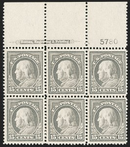 Sale Number 1175, Lot Number 667, 1912-14 Washington-Franklin Issue (Scott 405-423)15c Gray (418), 15c Gray (418)