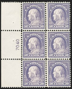 Sale Number 1175, Lot Number 670, 1912-14 Washington-Franklin Issue (Scott 405-423)50c Violet (421), 50c Violet (421)