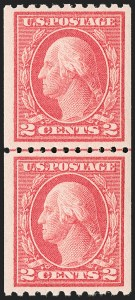 Sale Number 1175, Lot Number 686, 1913-15 Washington-Franklin Issues (Scott 424-461)2c Carmine, Ty. I, Coil (442), 2c Carmine, Ty. I, Coil (442)