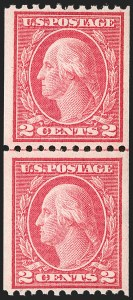 Sale Number 1175, Lot Number 691, 1913-15 Washington-Franklin Issues (Scott 424-461)2c Carmine, Ty. III, Coil (450), 2c Carmine, Ty. III, Coil (450)