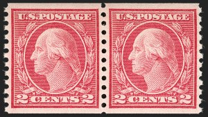 Sale Number 1175, Lot Number 693, 1913-15 Washington-Franklin Issues (Scott 424-461)2c Carmine, Ty. III, Coil (455), 2c Carmine, Ty. III, Coil (455)