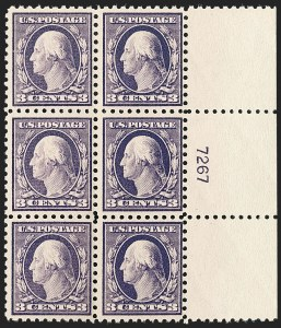 Sale Number 1175, Lot Number 699, 1916-17 Issues (Scott 462-480)3c Violet (464), 3c Violet (464)