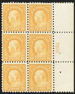 Sale Number 1175, Lot Number 706, 1916-17 Issues (Scott 462-480)10c Orange Yellow (472), 10c Orange Yellow (472)