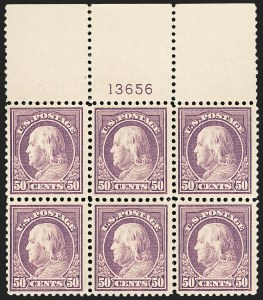 Sale Number 1175, Lot Number 724, 1917-19 Issues (Scott 481-524)50c Red Violet (517), 50c Red Violet (517)