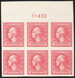 Sale Number 1175, Lot Number 734, 1918-20 Offset Printing Issues (Scott 525-536)2c Carmine, Ty. Va, Imperforate (534), 2c Carmine, Ty. Va, Imperforate (534)